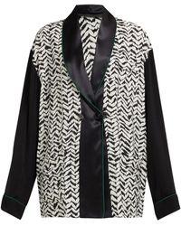 Haider Ackermann Greenfield Chevron-stripe Crepe Jacket - Black
