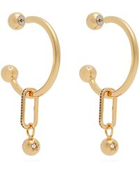 Burberry - Hoop And Crystal Embellished Pendant Earrings - Lyst