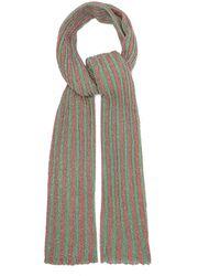 Missoni Metallic Striped Crochet-knit Shawl - Green