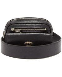 Gucci Morpheus Cracked-leather Belt Bag - Black