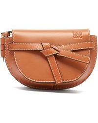 Loewe Gate Mini Leather Belt Bag - Brown