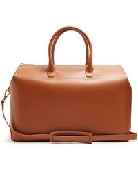 Mansur Gavriel Leather Holdall - Brown