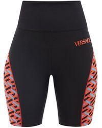 Versace ジャージー サイクリングショーツ - ブラック