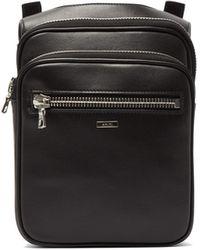 Amiri Zip-top Leather Pouch - Black