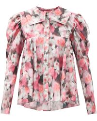 MATTY BOVAN Dolly Balloon-sleeves Floral-print Blouse - Pink