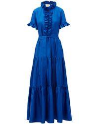LaDoubleJ Long And Sassy シルクドレス - ブルー
