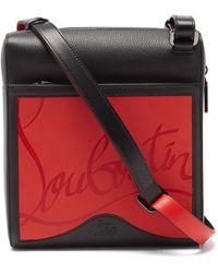 Christian Louboutin Benech Leather & Rubber Cross-body Bag - Black