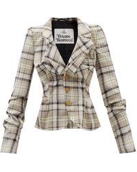 Vivienne Westwood ドランケン テイラー ウールフレスコスーツジャケット - ナチュラル