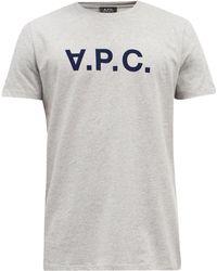 A.P.C. Vpc フロックロゴ コットンtシャツ - グレー