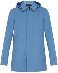Herno - Hooded Overcoat - Lyst