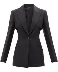 Givenchy ウールブレンドクレープ シングルジャケット - ブラック