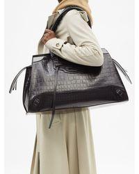 Balenciaga ネオクラシック シティ ラージ クロコダイルレザーバッグ - ブラック