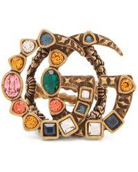 Gucci Anneau en cristal GG - Multicolore