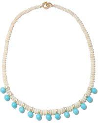 Irene Neuwirth ダイヤモンド オパール ターコイズ 18kゴールドネックレス - ブルー