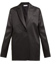 Marina Moscone Single Breasted Wool Blend Blazer - Black