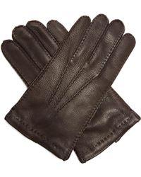 Prada | Topstitched Leather Gloves | Lyst