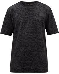 Fendi Ffフィッシュアイ Tシャツ - ブラック