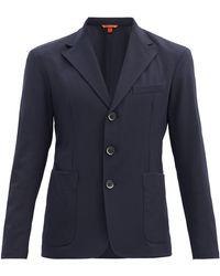 Barena ピエロ トリプルボタン ジャケット - ブルー