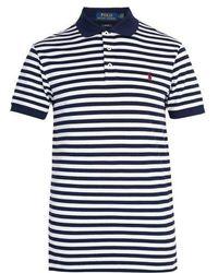 Polo Ralph Lauren - - Striped Stretch Cotton Piqué Polo Shirt - Mens - Blue Multi - Lyst