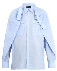 Y. Project - Overlay-detail Cotton-blend Shirt - Lyst