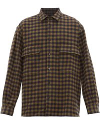 Raey Oversized Checked Wool Shirt - Multicolour