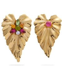 Rodarte Flower asymmetric gold-plated earrings nL4wOzSD7