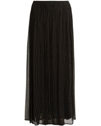 Mes Demoiselles - Textured Polka-dot Print Georgette Skirt - Lyst