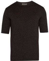 Kilgour - Short-sleeved Silk-blend Jumper - Lyst