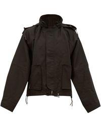 Ambush テクニカルコットン ショートフーデッドジャケット - ブラック
