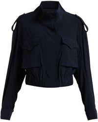 Norma Kamali - Cargo Pocket Stretch-jersey Jacket - Lyst