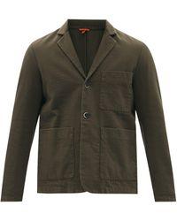 Barena レファダ コットンツイル シングルジャケット - グリーン