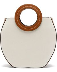 STAUD - Frida Canvas And Leather Tote Bag - Lyst