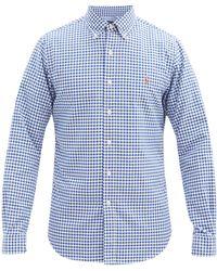 Polo Ralph Lauren スリムフィット ギンガムチェック コットンシャツ - ブルー