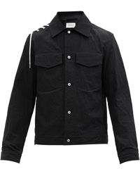 Craig Green Lace-up Cotton-blend Shirt - Black