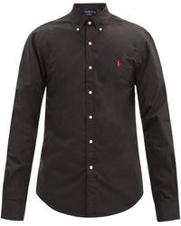 Polo Ralph Lauren スリムフィット コットンポプリンシャツ - ブラック