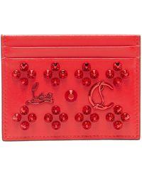 Christian Louboutin Kios Card Holder - Red