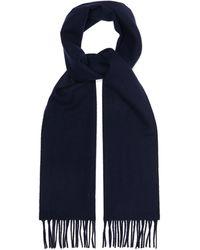 Lanvin Écharpe en laine à franges - Bleu