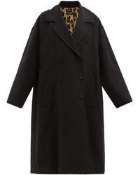 Dolce & Gabbana オーバーサイズ ダブルコート - ブラック