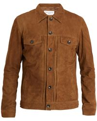 Officine Generale - Liam Point-collar Suede Jacket - Lyst