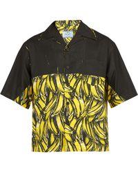 Prada - Banana Print Cotton Shirt - Lyst