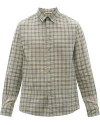 Péro Logo-embroidered Check Cotton Shirt - Multicolour