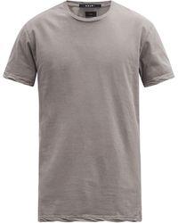 Ksubi シーイング ラインズ コットンtシャツ - グレー