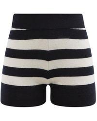 Extreme Cashmere No.179 Very Striped Stretch-cashmere Shorts - Multicolour