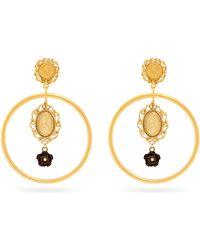Dolce & Gabbana - Cameo Hoop Pendant Earrings - Lyst