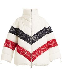 Moncler - Chunjie Tri-colour Lace Quilted Down Jacket - Lyst
