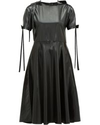 Sara Lanzi リボンディテール Pvcドレス - ブラック