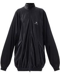 Balenciaga ロングトラックジャケット - ブラック
