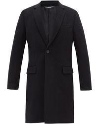 Dolce & Gabbana フェルトウールカシミア テーラードオーバーコート - ブラック