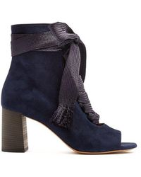 Chloé - Harper Lace-up Suede Ankle Boots - Lyst