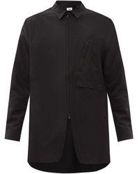 Y-3 オーバーサイズ コットンブレンド オーバーシャツ - ブラック